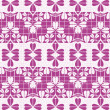 Lace purple seamless pattern — Stock Vector