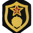 Soviet army chemical forces badge isolated — Stock Photo