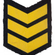 Insignia of military rank — Stock Photo