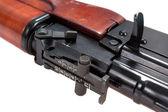 Bouchent la vue du fusil d'assaut kalashnikov — Photo
