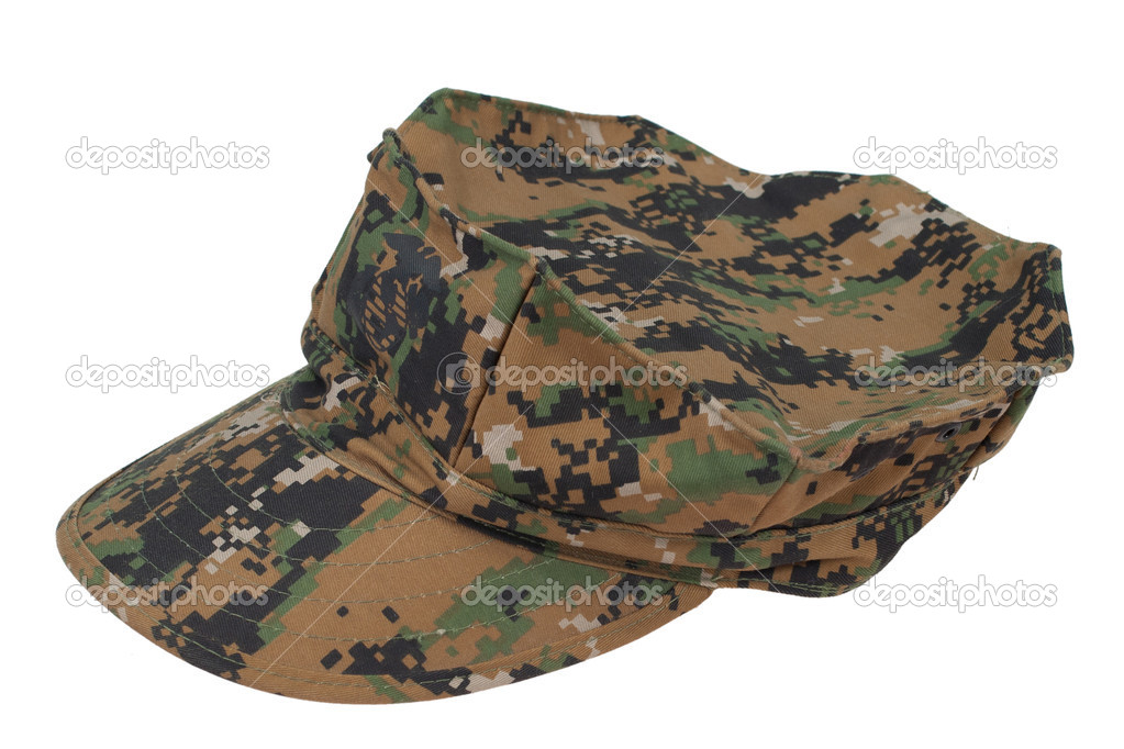 Us marine camouflage cap isolated on white background — Stock Photo #9772509