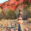 Stock Photo: Cathedral Rock Stack