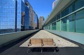 Městská lavička — Stock fotografie