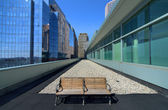 Urban bench — Stock Photo