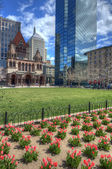 Copley Square in Boston — Stock Photo