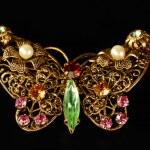 Butterfly Brooch — Stock Photo