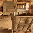 Pushcart in Abandoned Factory — Stock Photo