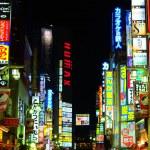 vita notturna di Tokyo — Foto Stock