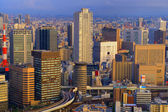 Osaka Japan Skyline — Stock fotografie