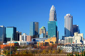 Skyline of Uptown Charlotte — Stock Photo