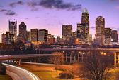 Skyline i uptown charlotte — Stockfoto