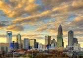 Skyline of Uptown Charlotte — Foto de Stock