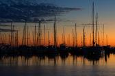 Boats at Dawn — Stock Photo