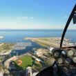 Stock Photo: St. Pete Aerial View from Helicopter
