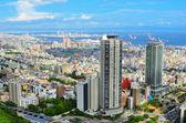 Widok z lotu ptaka z kobe, japonia — Zdjęcie stockowe