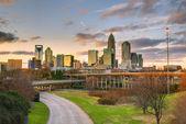 Charlotte panoramę — Zdjęcie stockowe