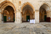 Pilgrims at Al Aqsa — Stock Photo
