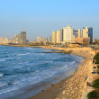 Tel Aviv Beachfront - Stock Photo