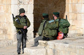 Israelische grenzpolizei — Stockfoto