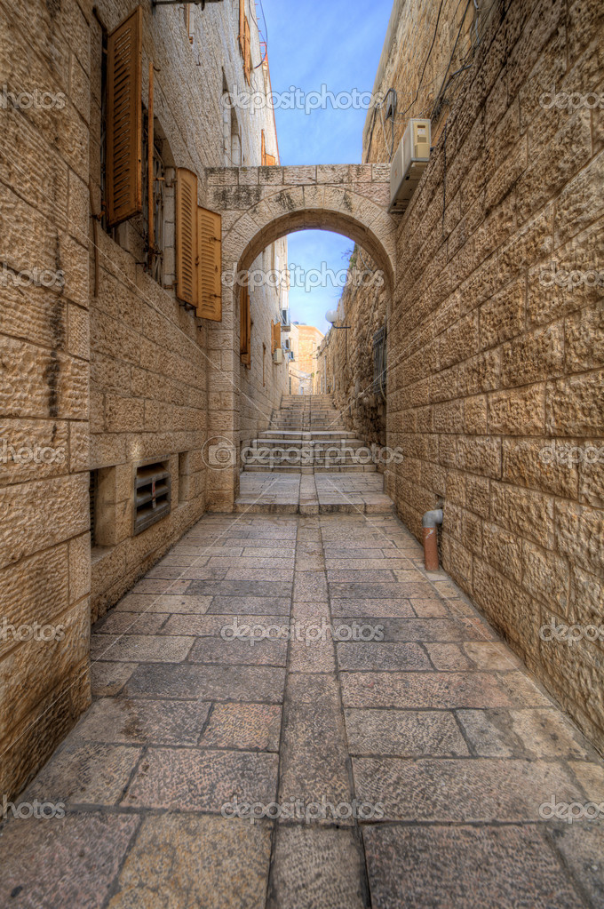 Alleyway in the Old City of Jerusalem, Israel. — Stock Photo #9466041