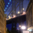Manhattan Bridge Skyline — Stock Photo