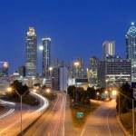 Atlanta Skyline above Freedom Parkway — Stock Photo