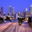 Atlanta Skyline above Freedom Parkway — Stock Photo #9645751
