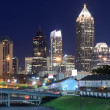 Atlanta Skyline above Freedom Parkway — Stock Photo