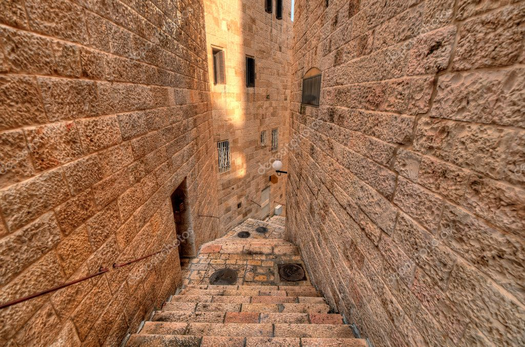 Alleyway in the Old City of Jerusalem, Israel.  Stock Photo #9737447