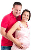Happy pregnant woman with her husband — Stock Photo