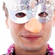 Royalty-Free Stock Photo: Man wearing party mask