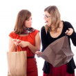 Excited women shopping — Stock Photo