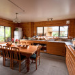 Stock Photo: Lodge breakfast room interior