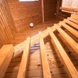 Detail of wooden staircase in lodge apartment — Stock Photo #9381981