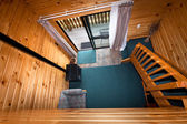 Lodge apartment wooden interior detail — Stockfoto