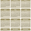Vertical oriented calendar for 2013 - Stock Vector