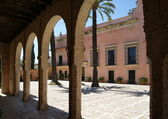 Arches in Alcazar of Jerez — Stock Photo