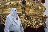 Nazarene in the Procession of the Virgin — Stock Photo