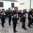 Brass band in procession — Stock Photo #9970118