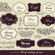Vector set of calligraphic design elements — Stock Vector #8437155
