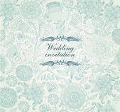 Vector wedding invitation — Stock Vector