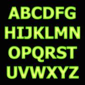 Alphabet neon — Stock Photo