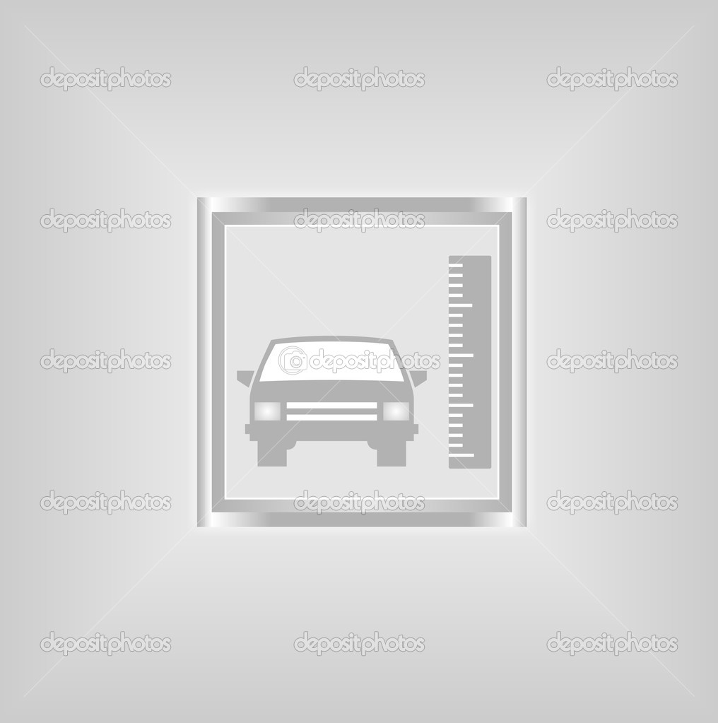 Vector sign size of a car — Stock Vector #9688387