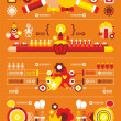 Stock Vector: Festive beautiful infographics