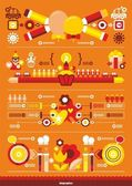 Festive beautiful infographics — Stock Vector