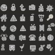 Black and white icons — Stock Vector