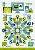 Interesting infographics — Stock Vector