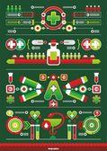 Medical interesting infographics — Stock Vector