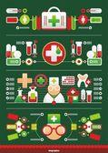 Infografica vettoriale medica — Vettoriale Stock
