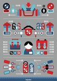 Vector shop infographics — Stock Vector